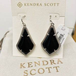 Kendra Scott Alex Black silver earring